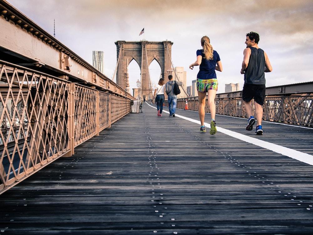 Running pont Brooklyn New York