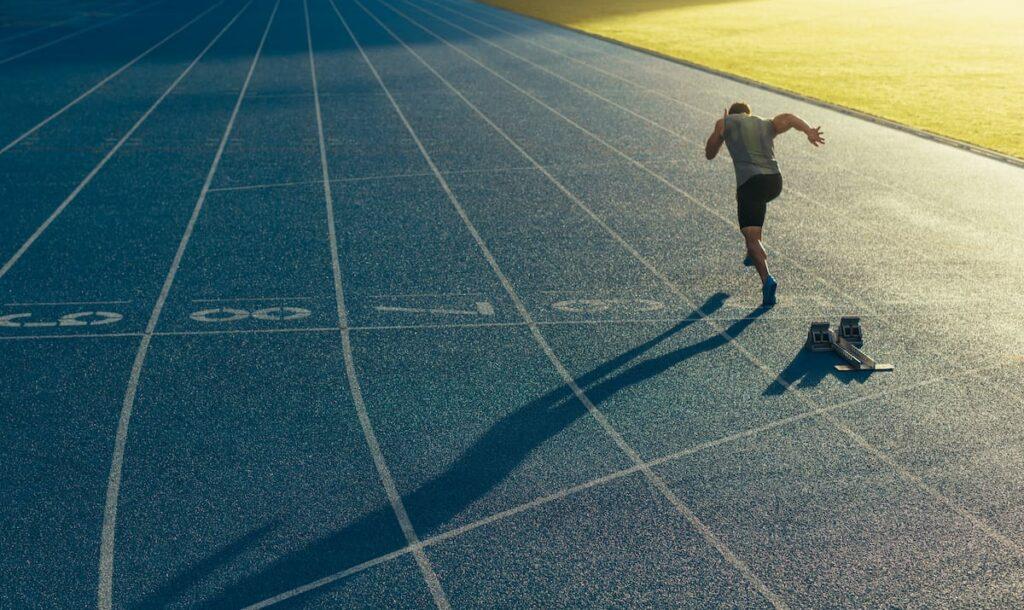 Test vma sur piste d'athletisme